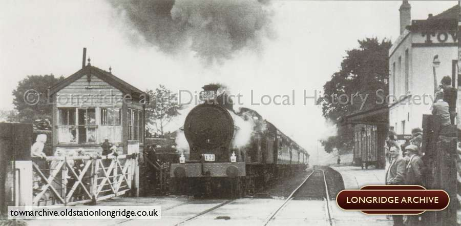 Ex Lnwr 0-8-0 Arrives with a Rail Tour Special