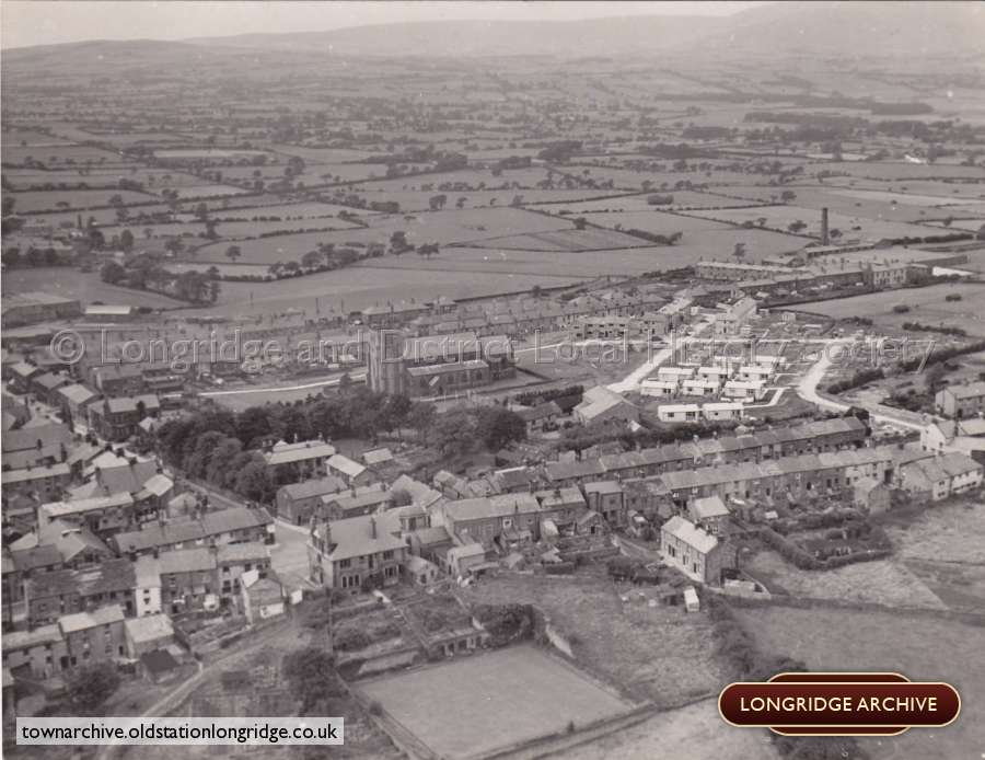 Aerial Photograph, Berry Lane And King Street Longridge
