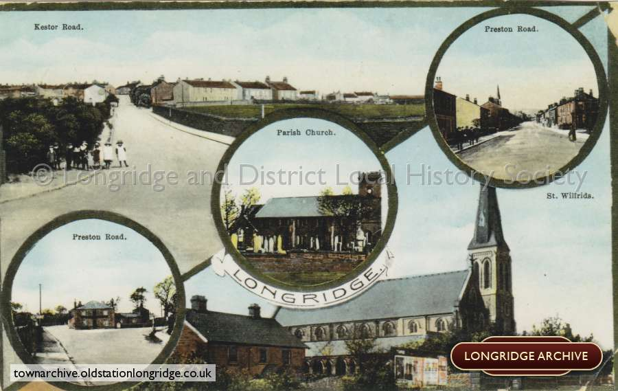 Postcard, A Multi- View Of Longridge