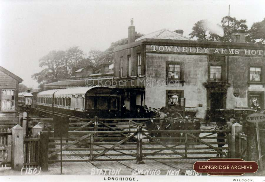 Longridge Station Showing New Motor Train