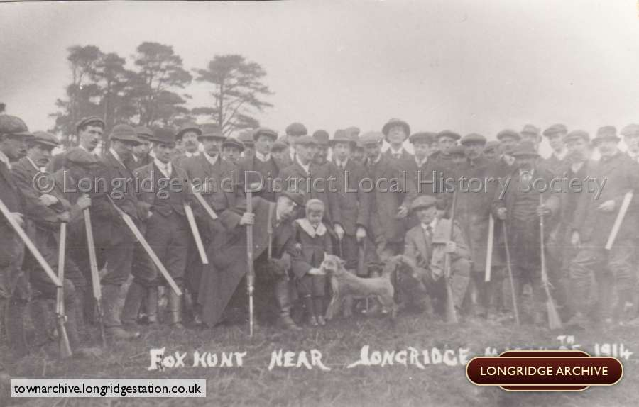 Miscellaneous Group Photograph, A Fox Hunt Near Longridge