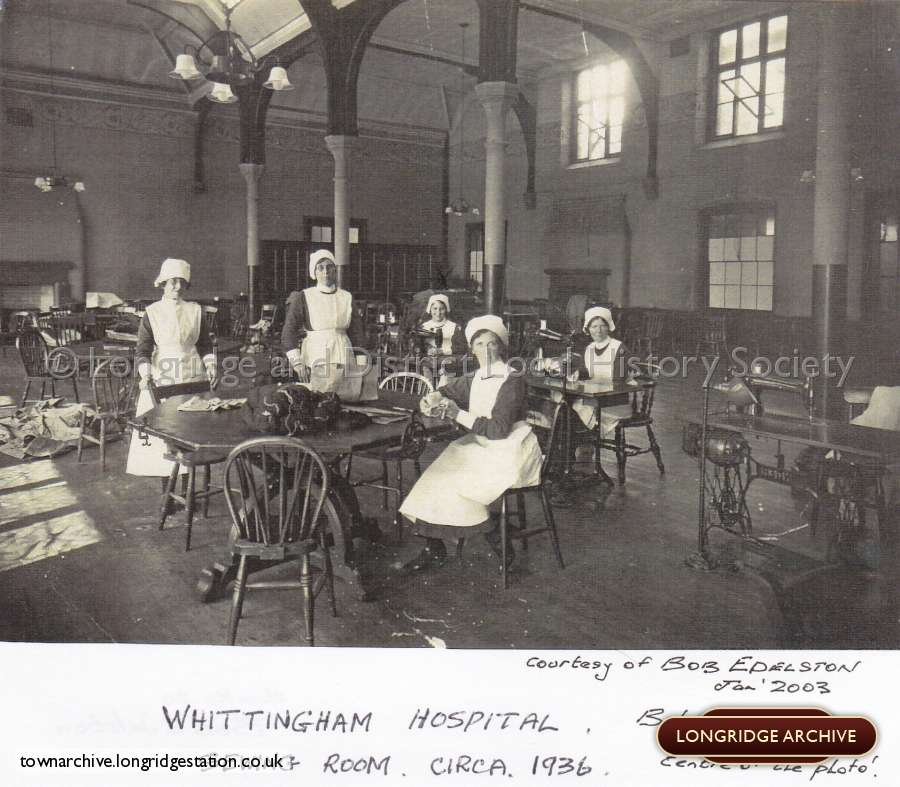 Whittingham Hospital, The Sewing Room