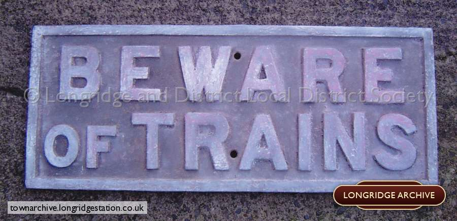 Railway Warning Sign