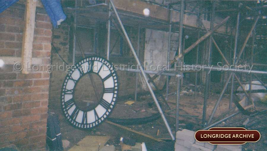 Removal Of The Old Co-op Clock