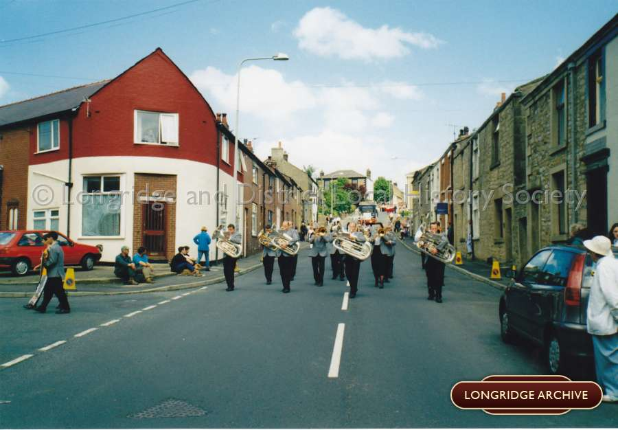 Longridge Band at the Field Day Parade, Fell Brow