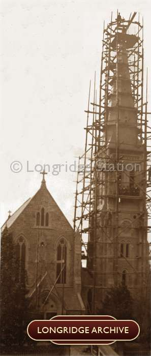 St Wilfrid's Church Steeple in Construction